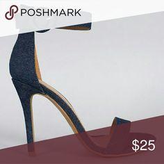 Denim heels Never worn. Size 9 Shoes Heels
