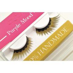 Golden False Eyelashes with black print at bottom - Glitter