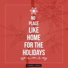 There's no place like home for the holidays!  #TorreAndTagus #HappyHolidays
