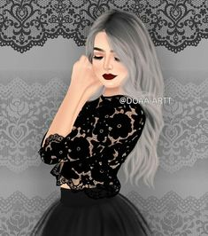 Image shared by Karen Arroyo. Find images and videos on We Heart It - the app to get lost in what you love. Beautiful Girl Drawing, Cute Girl Drawing, Cartoon Girl Images, Cute Cartoon Girl, Cute Girl Hd Wallpaper, Chica Cool, Girly M, Lovely Girl Image, Pop Art Girl