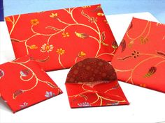 4 Special Samplar Chinese Silk Envelope by PaperMagicFantastic, $10.75