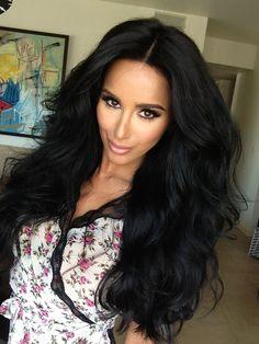 Lilly Ghalichi's voluminous hair!! Love this
