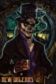 Baron Samedi Voodoo - New Orleans, Louisiana - Lantern Press Poster