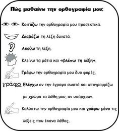 OPΘOΓPAΦIA Greek Language, Speech And Language, Kids Education, Special Education, Social Work Activities, Vocabulary Exercises, Welcome To School, Learn Greek, Teacher Boards