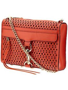 This is a FUN bag in all the right ways!    Rebecca Minkoff persimmon Triangle Perforated MAC | Piperlime