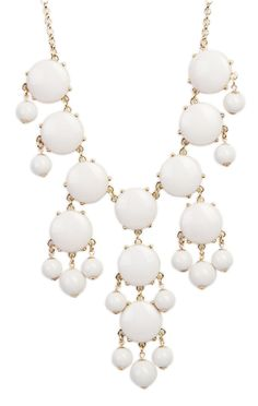 bubble #necklace in #white   $12.37
