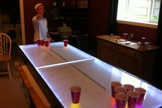 Light Up Your Next Party with This DIY LED Beer Pong Table That Dances to the Music « Tech Pr0n