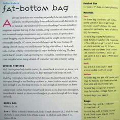 FREE instructions to make a Fat Bottom Bag
