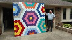 Grandmother's Flower Garden Barn Quilt Block