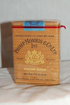 PHILIP MORRIS, VINTAGE WARTIME CIGARETTE PACK -WW2 1944  -      wss-qm Prop #Camel