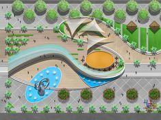 Michael Eastwood Landscape Plaza, Urban Landscape, Site Development Plan, Playground Design, Urban Park, Landscape Architecture Design, Parking Design, Landscape Drawings, Villa