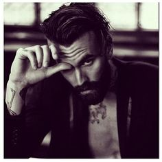 hair and beard, ricki hall Bart Tattoo, Hot Men, Hot Guys, Gorgeous Men, Beautiful People, Bart Styles, Sexy Bart, Ricki Hall, A Well Traveled Woman