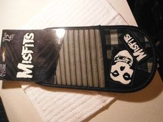 CD Case , Over the visor Style , Black and Gray , Misfits , Punk Rock , - Accessories