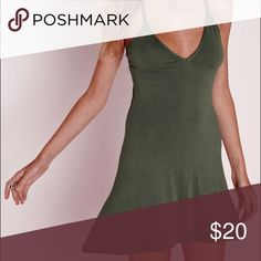 strappy back swing dress khaki New with tags Missguided Dresses Mini