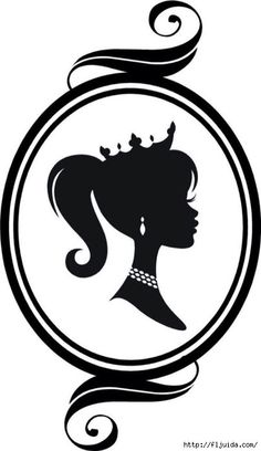 """Cameo Princess Silhouette"" a Vinyl Wall Decal Graphic by VinylDesignsByCJ, via Etsy. Silhouette Vinyl, Silhouette Portrait, Silhouette Cameo Projects, Silhouette Cameo Shirt, Girl Silhouette, Disney Poster, Princess Silhouette, Barbie Party, Digi Stamps"