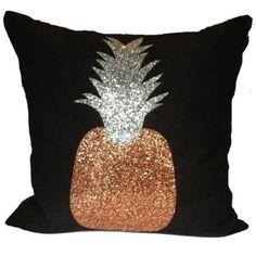 Pineapple Glory Cushion Copper/Black, Cushions, Soft Furnishings, £75.00, Abode