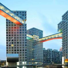 Steven Holl Architects' Mixed Used Complex Connects in Every Way #bridge #architecture trendhunter.com