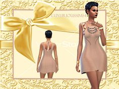 A LIL SUM SUM dress at NEW Luxurious Sims 4 • Sims 4 Updates
