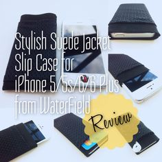 WaterField iPhone Suede Jacket - Slip Case - works for iPhone 5/52/6/6 Plus | Purchase: http://www.sfbags.com/collections/iphone-cases/products/iphone-case-suede-jacket