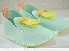 Fringe Baby Booties by Nichole Heady for Papertrey Ink (May 2014)