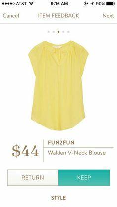 Fun2Fun Walden V-neck blouse