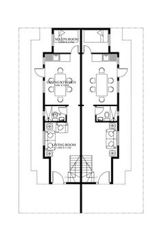High Quality Duplex House Plan PHP 2014006 Is A Four Bedroom House Plan Design Including  The Maidu0027s