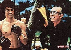 Bruce and Raymond Chow behind the scenes of Enter the dragon