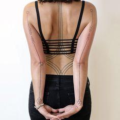 Back healed, arms fresh...#tattoosbyroxx#art#blackwork#blackandwhite#tattoo#2spirittattoo#sanfrancisco