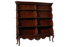 Oliver Open Bookcase, Antiqued Cherry | Inspired By... | One Kings Lane