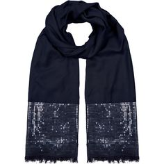 Monsoon Sequin Border Stole ($60) ❤ liked on Polyvore featuring accessories, scarves, sequin shawl, evening shawl, sequin scarves and holiday scarves