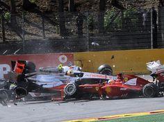 Lewis Hamilton avec la McLaren