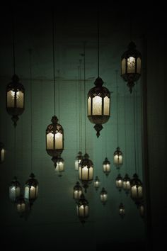 When i saw the lanterns hanging from the ceiling I was confused.this was what he was trying to hide from me? But when i stepped closer I realized it wasn't bulbs that was lighting the lanterns. Mundo Design, Dark Green Aesthetic, Slytherin Aesthetic, Hogwarts Houses, Slytherin House, New Wall, Picture Wall, Decoration, Harry Potter