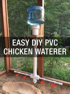 Chicken Coop - Learn a super easy way to keep your flock watered: www.mychickencoop... Building a chicken coop does not have to be tricky nor does it have to set you back a ton of scratch.