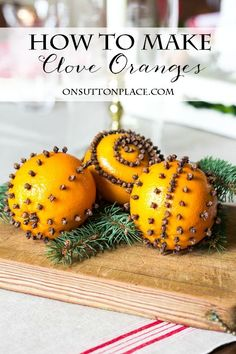 Easy tutorial on how to make clove oranges. This is so simple and the smell of the cloves is amazing!