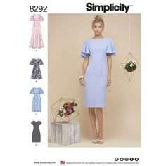 Simplicity Ladies Sewing Pattern 8292 Dresses in 4 Styles | Sewing | Patterns | Minerva Crafts