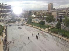 Aleppo from the roof of the faculty of electricity.حلب من سطح كلية الكهرباء