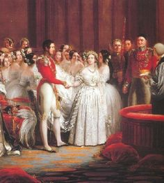 Queen Victoria wasn't the first bride to wear white, but she did make it popular - here she exchanges vows with Prince Albert.