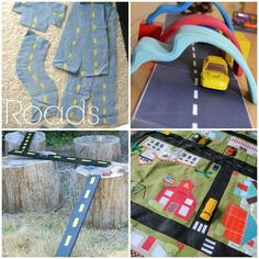 So many homemade toys to make for kids, brilliant ideas! Love the felt roads for operation Christmas child boxes!