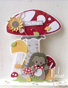 byMarleen: How to. met Craft stencil - Mushrooms by Marleen Cute Cards, Diy Cards, Marianne Design Cards, Felt Pictures, Elizabeth Craft, Fall Cards, Stamping Up, Creative Cards, Making Ideas
