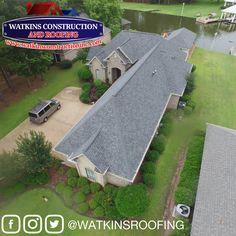 OWENS CORNING'S TruDef Duration - Estate Gray www.watkinsconstructioninc.com #watkinsroofing #ocplatinum #watkinsway #roof Roof Shingle Colors, Construction, Gray, Photos, Building, Pictures, Grey