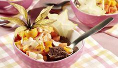 Vegane Schokocreme mit exotischen Früchten - ein erlesenes MAGGI Rezept aus der Kategorie Feiern. Einfach und schnell mit MAGGI Kochstudio.