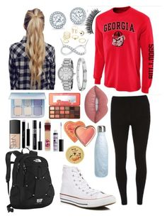 """""""School 46"""" by ella-goodness on Polyvore featuring Dorothy Perkins, Converse, S'well, Michael Kors, Cartier, Anastasia Beverly Hills, Charlotte Russe, The North Face, Too Faced Cosmetics and Lime Crime"""