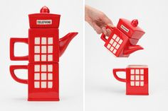 Calling all anglophiles! This teapot and teacup set is for you.