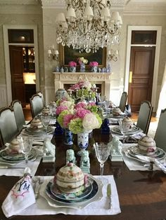 An enchanted afternoon & Alice Naylor-Leyland\u0027s Classic English Style | Table settings ...