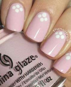 Top Easy Nail Art Designs Trendy Nails Women, easy nail art are an augmentation of what you wear, and cool nail workmanship dependably happens to earn a considerable measure of consideration and compliments. Dot Nail Art, Pink Nail Art, Polka Dot Nails, Polka Dots, Hot Nail Designs, Simple Nail Art Designs, Trendy Nail Art, Easy Nail Art, Easy Art
