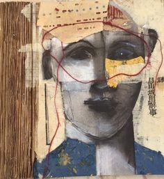 Kathie J Vezzani Abstract Faces, Abstract Art, Figure Painting, Painting & Drawing, Wax Art, Human Art, Surreal Art, Art Google, Figurative Art