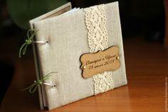 Купить Набор аксессуаров для свадьбы в эко-стиле - свадебные аксессуары, альбом для пожеланий, гостевая книга
