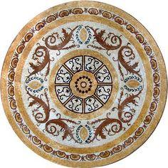 Medallion Mosaic Pattern Tile Stone Art Floor Tabletop   eBay