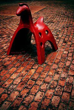 Vintage playground equipment Horse.