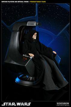 Figura Star Wars. Emperador Palpatine en Trono Imperial. Sideshow Collectibles